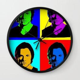 Jared Padalecki Pop Art Wall Clock