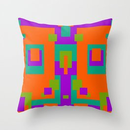 Herb, Berry, Pumpkin Decorative Design 2 Throw Pillow