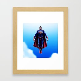 super man Framed Art Print