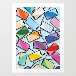 Notch Smartphones Art Print