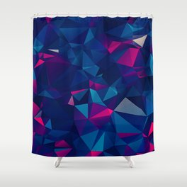 Faceted Shatter Shower Curtain