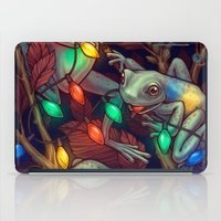 baby iPad Cases featuring Baby it's Toad Outside by Kate O'Hara Illustration