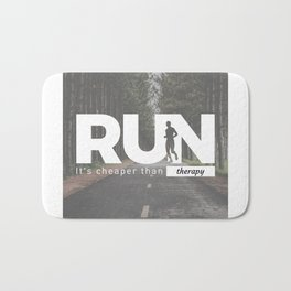 Run Cheaper Than Therapy Running Runners Treatment Bath Mat