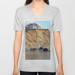 Cliffs of Perce Panoramic Unisex V-Neck