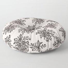 Block Bouquet Black Pink Floor Pillow