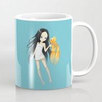 goldfish Mugs featuring Goldfish by Freeminds