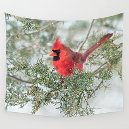Cocky Cardinal Wall Tapestry