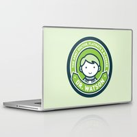 john green Laptop & iPad Skins featuring Cute John Watson - Green by mydeardear