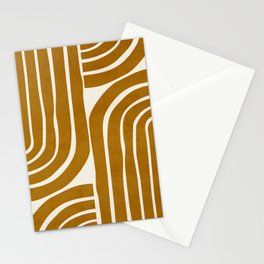 MINIMAL YELLOW ARCHES Stationery Cards