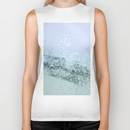 Light Seafoam Light Blue Glitter #1 #shiny #decor #art #society6 Biker Tank