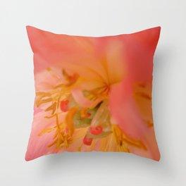 Peachy pink peonies I Throw Pillow