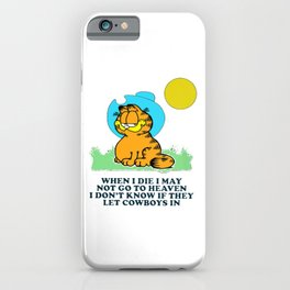 when i die i may not go to heaven garfield iPhone Case