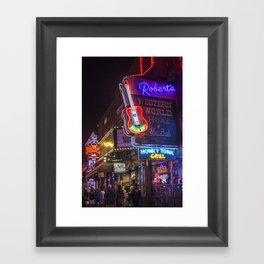 Nights in Nashville Framed Art Print