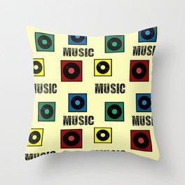 Music design Throw Pillow