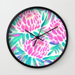 TROPICAL PROTEA Wall Clock