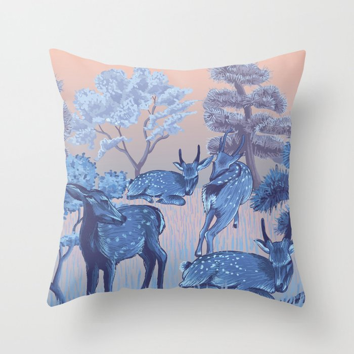 Arrival in Nara Throw Pillow