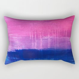 Bisexual Flag: abstract acrylic piece in pink, purple, and blue #pridemonth Rectangular Pillow