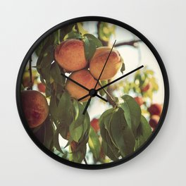 Life's a Peach Wall Clock