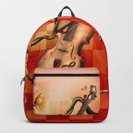 Violin with violin bow Backpack
