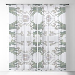Forget Me Nots Study Sheer Curtain