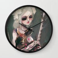 wedding Wall Clocks featuring The day before the wedding by Ludovic Jacqz