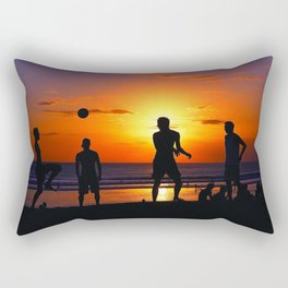 Football at Sunset. Rectangular Pillow