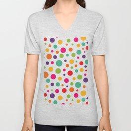 Jolly Colorful Dots Unisex V-Neck
