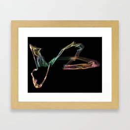 Polynomial colors Framed Art Print