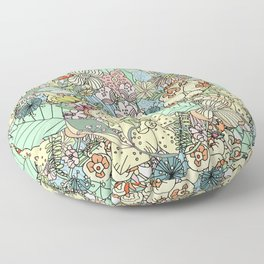 Muted In Bloom Floor Pillow