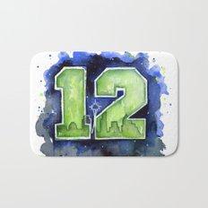 12th Man Seahawks Seattle Go Hawks Art Bath Mat