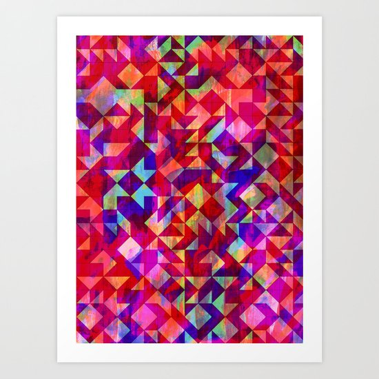 Geo Gem Art Print