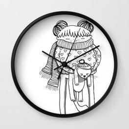 Betty and Fergus Wall Clock
