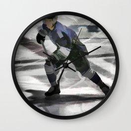 Let's Go! - Ice Hockey Player Wall Clock