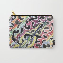Rainbow Leopard Print Carry-All Pouch