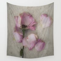 depression Wall Tapestries featuring Wilted Rose by Maria Heyens
