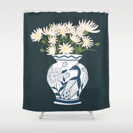 Vase no. 6 with Peacock  Shower Curtain