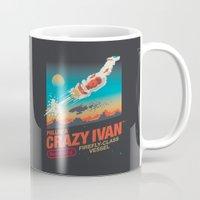 danny ivan Mugs featuring Crazy Ivan by Victor Vercesi