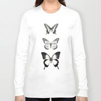 butterflies Long Sleeve T-shirts featuring Butterflies // Align by Amy Hamilton
