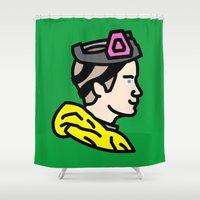 jesse pinkman Shower Curtains featuring Pinkman by MSTRMIND