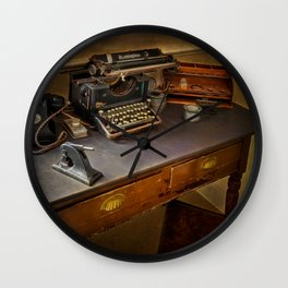 Vintage Writers Corner Wall Clock