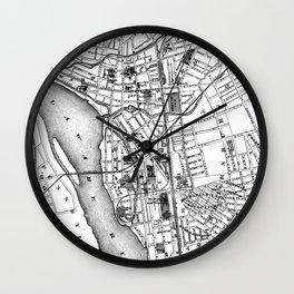 Vintage Map of Trenton NJ (1872) Wall Clock