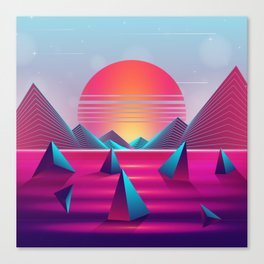 Lucid Sunset Dreams Canvas Print