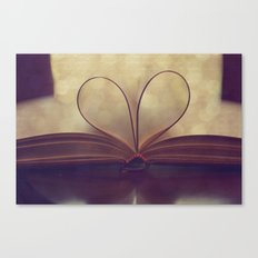 Love of the Book Canvas Print