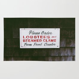 Lobster Sign in Maine Rug