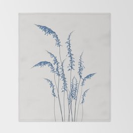 Blue flowers 2 Throw Blanket