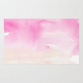 Pink Watercolor Wash Rug