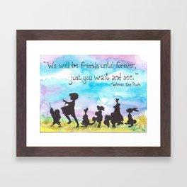 Winnie The Pooh and Friends Framed Art Print