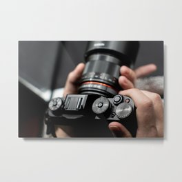 Professional Photographer taking a picture Metal Print