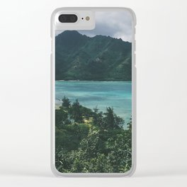 Crouching Lion Clear iPhone Case