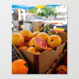 Grapefruits Canvas Print